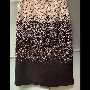 Burberry Prorsum Ombré Degrade Woven pencil skirt